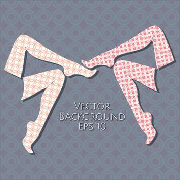 Vector background with female legs. - vector #128726 gratis