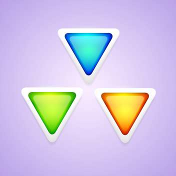 Vector set of colorful triangle buttons. - vector #128766 gratis