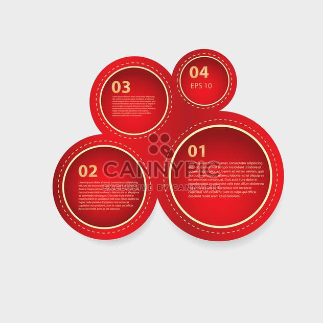 Vector red circle panels of progress - Free vector #128786