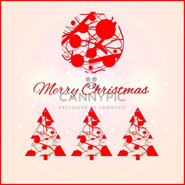 Vector illustration of Christmas decoration set - Free vector #128956