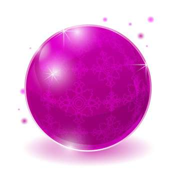 pink glossy sphere illustration - vector gratuit #128986