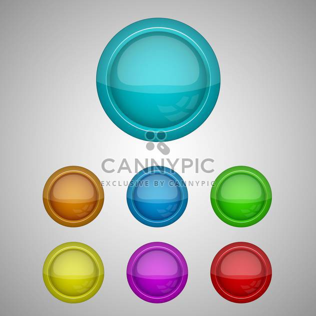 set of vector buttons illustration - Free vector #128996