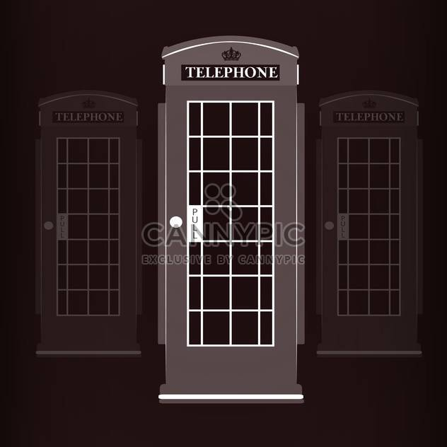telephone booth vector illustration - Free vector #129006