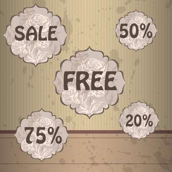 set of vector shopping sale labels - vector gratuit #129036