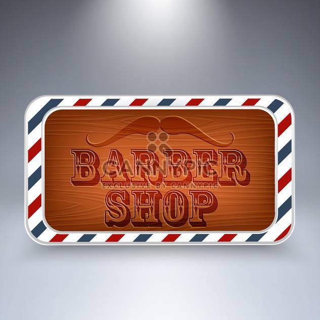 barber shop wooden board - Free vector #129056
