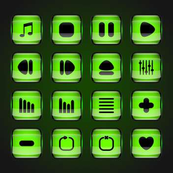 media web vector buttons set - vector #129076 gratis