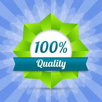 vector hundred guarantee quality badge - vector gratuit #129116