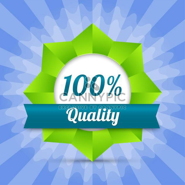 vector hundred guarantee quality badge - Free vector #129116