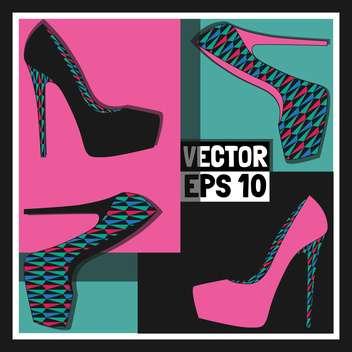 fashion female shoes set - vector gratuit #129146