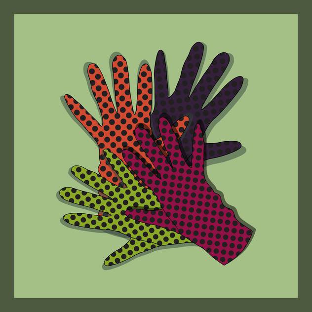 vector background with colorful gloves set - vector gratuit #129226