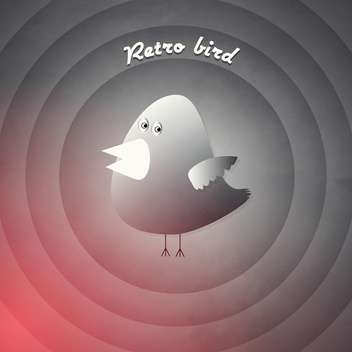 vector retro cartoon bird - vector gratuit #129236
