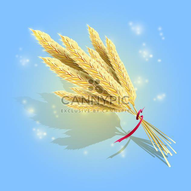 bunch of ripe vector wheat - Free vector #129256