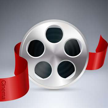 cinema background with reel of film - vector gratuit #129276