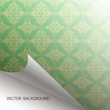 Vector seamless green damask background - бесплатный vector #129306