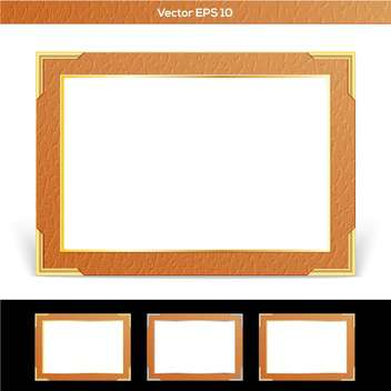 Set of vector brown frames - Free vector #129366