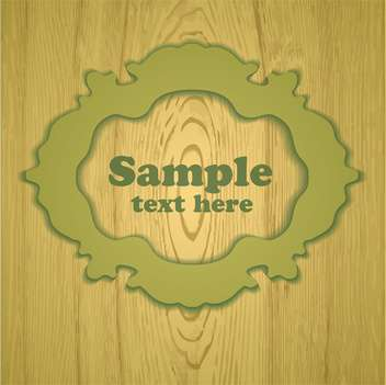 Vector wooden vintage frame with place for text - vector gratuit #129456