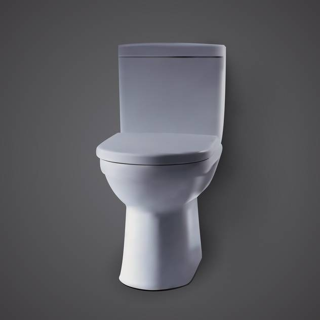 Vector illustration of toilet bowl on black background - Free vector #129516