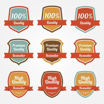 Vector collection of colorful sale shields on white background - vector #129546 gratis