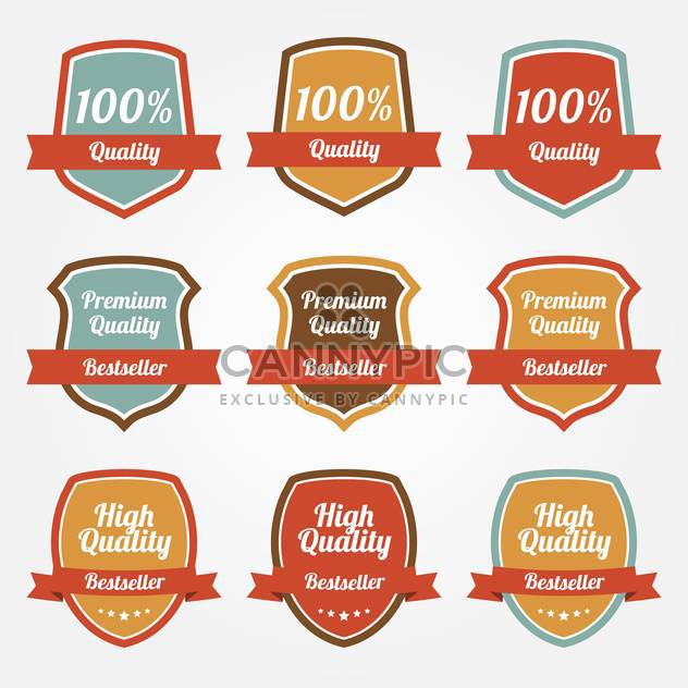 Vector collection of colorful sale shields on white background - Kostenloses vector #129546