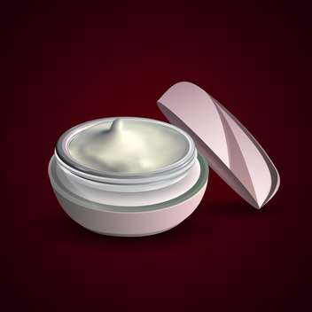 Vector illustration of facial cream container on black background - Free vector #129656