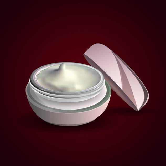Vector illustration of facial cream container on black background - vector #129656 gratis