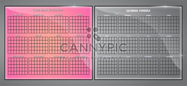 Vector set of calendar schedule - Free vector #129676