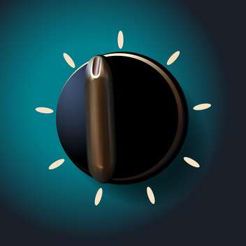 Vector illustration of black round switch on green background - Free vector #129846