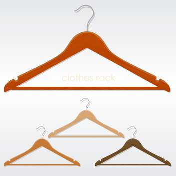 Vector illustration of colorful three coat hangers - vector gratuit #129876