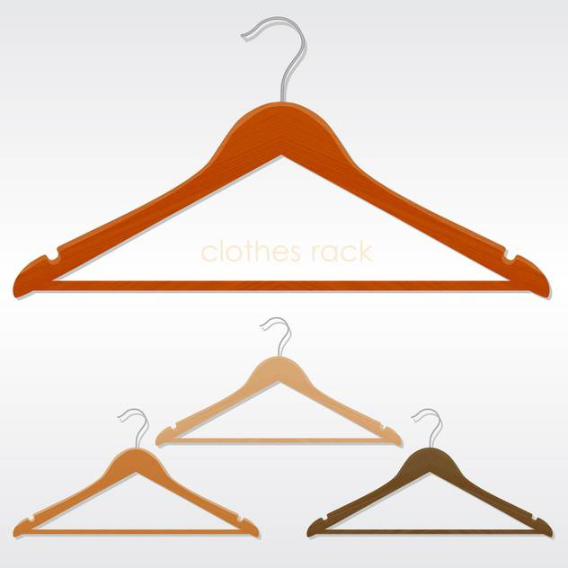 Vector illustration of colorful three coat hangers - Free vector #129876