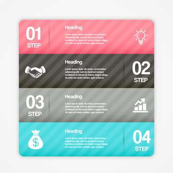 Vector business infographic banner with numbers and options - vector #129886 gratis