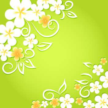 Spring floral background with flowers - vector gratuit #130066