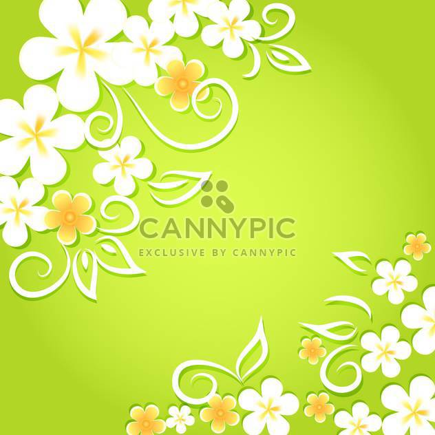 Spring floral background with flowers - Free vector #130066