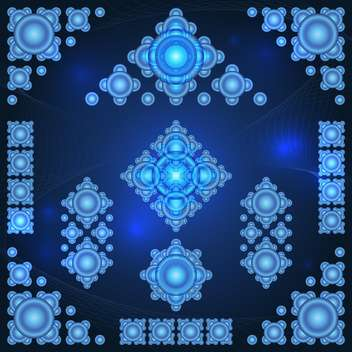 Abstract blue vector background - vector gratuit #130116