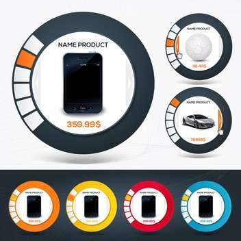 Vector illustration of web product offer icons - vector #130126 gratis