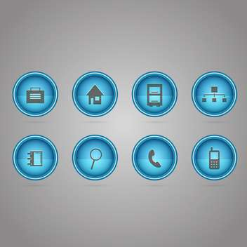 Vector communication round icons set - vector gratuit #130146