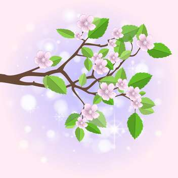 Vector illustration of spring branch - vector gratuit #130216