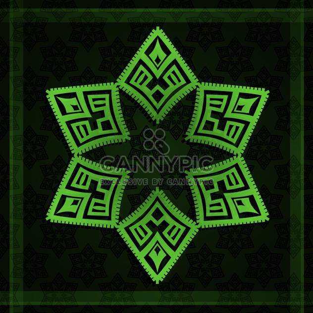 Vector illustration of abstract black background with green star - Free vector #130236