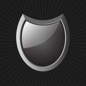 vector illustration of black shield - бесплатный vector #130246