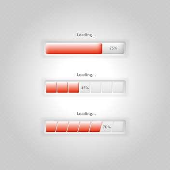 vector loading bars set - vector gratuit #130266