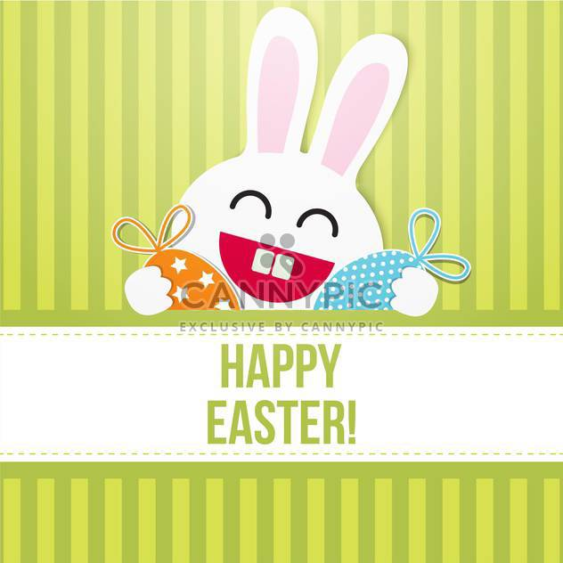 happy easter card with bunny - Free vector #130276