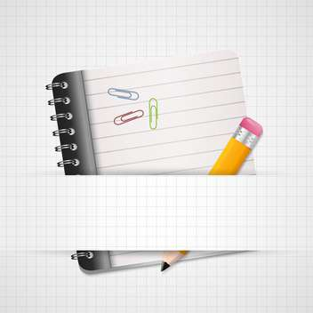 vector blank paper with notebook - vector gratuit #130286