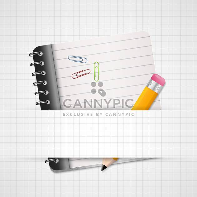 vector blank paper with notebook - Free vector #130286