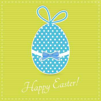 Happy easter greeting card - vector gratuit #130376