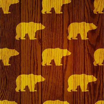 bear animal wooden background - бесплатный vector #130506