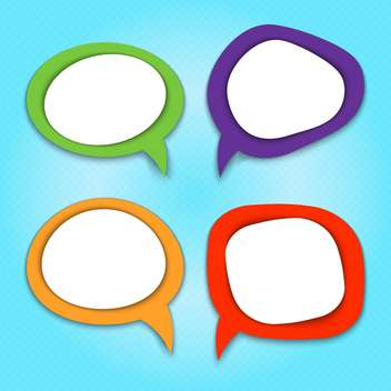 Vector set of colorful speech bubbles on blue background - бесплатный vector #130546