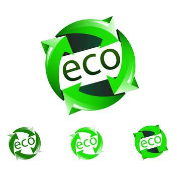 Vector nature eco icons on white background - vector gratuit #130606