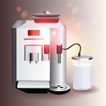 vector illustration of coffee machine on grey background - vector #130766 gratis
