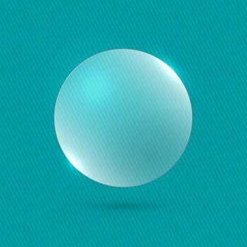 vector illustration glossy bubble on blue background - бесплатный vector #130786