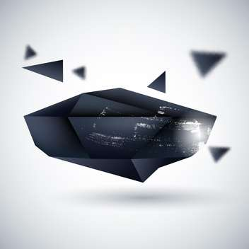 Abstract black background vector illustration - vector #130896 gratis