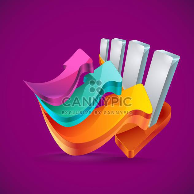 Vector arrow banners set illustration - Free vector #130946